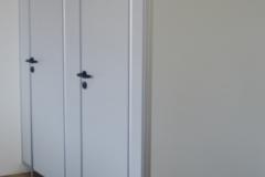 Wc Trennwand 2 fache Ausführung grau